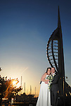 Portsmouth Spinnaker Tower, wedding at sunset.