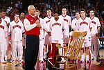 A tribute to former University of Wisconsin head coach Dick Bennett was given before the Penn State game at the Kohl Center in Madison, WI, on 1/27/01. Wisconsin beat Penn State 63-58. (Photo by David Stluka)