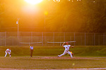 LITCHFIELD, CT. 16 July 2019-071619 - The golden glow of the sun beats down on the players, during a Tri-State Baseball game between the Wolcott Scrappers and the Tri-Town Trojans at Community Field in Litchfield on Tuesday. Bill Shettle Republican-American