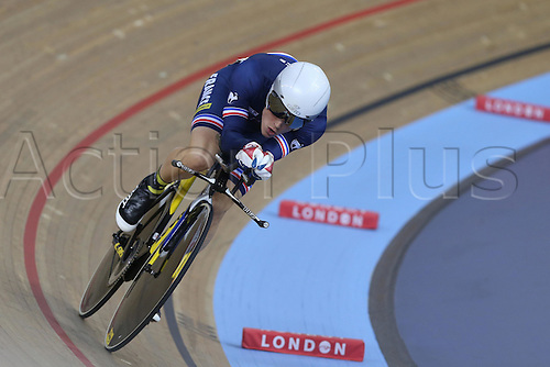 04.03.2016. Lee valley Velo Centre. London England. UCI Track Cycling World Championships Mens Omnium qualifications races. BOUDAT Thomas (FRANCE )