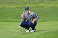 Jordan Spieth (USA) on the 5th green at Pebble Beach Golf Links during Saturday's Round 3 of the 2017 AT&amp;T Pebble Beach Pro-Am held over 3 courses, Pebble Beach, Spyglass Hill and Monterey Penninsula Country Club, Monterey, California, USA. 11th February 2017.<br /> Picture: Eoin Clarke | Golffile<br /> <br /> <br /> All photos usage must carry mandatory copyright credit (&copy; Golffile | Eoin Clarke)
