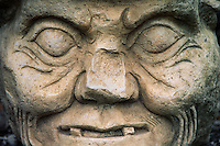STONE SCULPTURE of MAYAN GOD of MEDECINE & SCIENCE - COPAN RUINS, HONDURAS