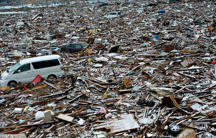 The town of Natori near Sendai has been dumped fallout has meant that the March 11th quake was the most expensive natural disaster known to man..16 Mar 2011