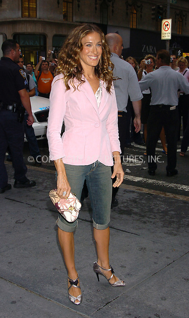 "WWW.ACEPIXS.COM . . . . .  ..NEW YORK, SEPTEMBER 9, 2004: Sarah Jessica Parker promotes The Gap's ""Show Us How You Wear It"" National Tour at The Gap store on Fifth Avenue and 54th Street...Please byline: AJ Sokalner - ACE PICTURES..... *** ***..Ace Pictures, Inc:  ..Alecsey Boldeskul (646) 267-6913 ..Philip Vaughan (646) 769-0430..e-mail: info@acepixs.com..web: http://www.acepixs.com"