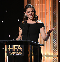 BEVERLY HILLS - NOVEMBER 3: Jennifer Garner appears onstage at the 2019 Hollywood Film Awards at the Beverly Hilton on November 3, 2019 in Beverly Hills, California. (Photo by Frank Micelotta/PictureGroup)