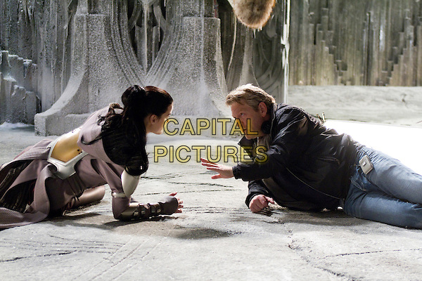 JAIMIE ALEXANDER & KENNETH BRANAGH (DIRECTOR).on the set of Thor (2011).*Filmstill - Editorial Use Only*.CAP/FB.Supplied by Capital Pictures.