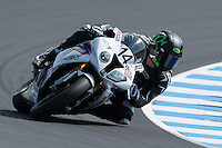 Glen Allerton (AUS) riding the BMW S1000RR of the Next Gen Motorsports team rounds turn 6 during a qualifying session on day one of round one of the 2013 FIM World Superbike Championship at Phillip Island, Australia.