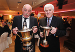 Larry Hally, club secretary, with Pat Daly, chairman, during Éire Óg GAA's medal presentation night at the Auburn Lodge Hotel in Ennis. Photograph by Declan Monaghan