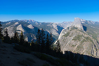 Half Dome peak rom Glacier Point, Yosemite National Park, California