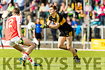Gavin White Dr Crokes in action against Conor Geaney Dingle in the Senior County Football Semi Final in Fitzgerald Stadium on Sunday.