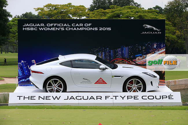 Jaguar. The Official Car of the event during Round 2 of the HSBC Women's Champions at the Sentosa Golf Club, The Serapng Course in Singapore on Friday 6th March 2015.<br /> Picture:  Thos Caffrey / www.golffile.ie