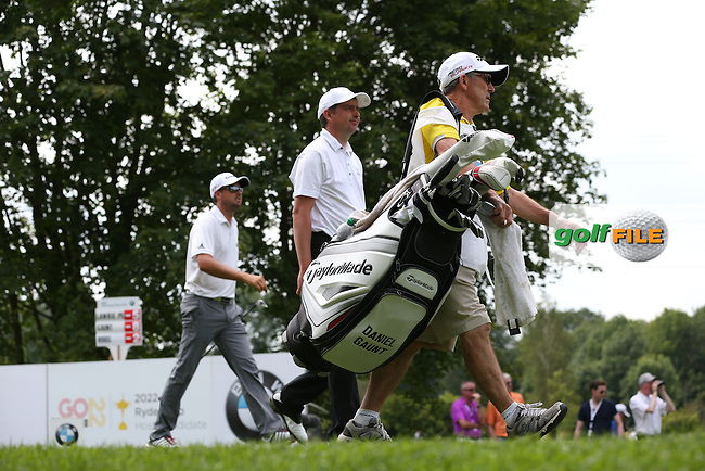 Wondering how those little legs can carry a bag Peter Lawrie (IRL) heading down the 16th en route to a 67 during Round Two of the 2015 BMW International Open at Golfclub Munchen Eichenried, Eichenried, Munich, Germany. 26/06/2015. Picture David Lloyd | www.golffile.ie