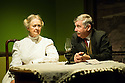 London, UK. 11.09.2012. Hindle Wakes, written by Stanley Houghton, directed by Bethan Dear and produced by Jamil Jivanjee, opens at the Finborough Theatre. It is the play's first London revival in 30 years. Picture shows: Anna Carteret (as Mrs Hawthorn) and Peter Ellis (as Christopher Hawthorn). Photo credit: Jane Hobson
