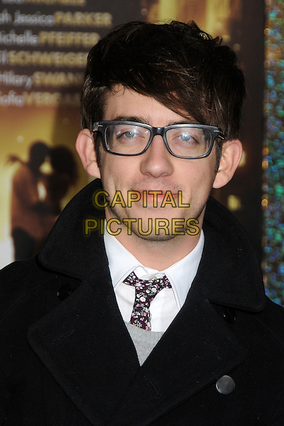 "Kevin McHale.The World Premiere of ""New Year's Eve' held at The Grauman's Chinese Theatre in Hollywood, California, USA..December 5th, 2011.headshot portrait glasses black .CAP/ADM/BP.©Byron Purvis/AdMedia/Capital Pictures."