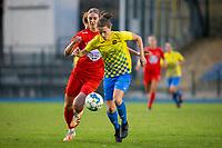 20200821 - Woluwe: Woluwe's Marie Bougard battle for the ball during a friendly match between Femina WS Woluwe vs K Wuustwezel FC on 21th of August 2020, in Stade Fallon, Woluwe. PHOTO: Sportpix.be | SEVIL OKTEM