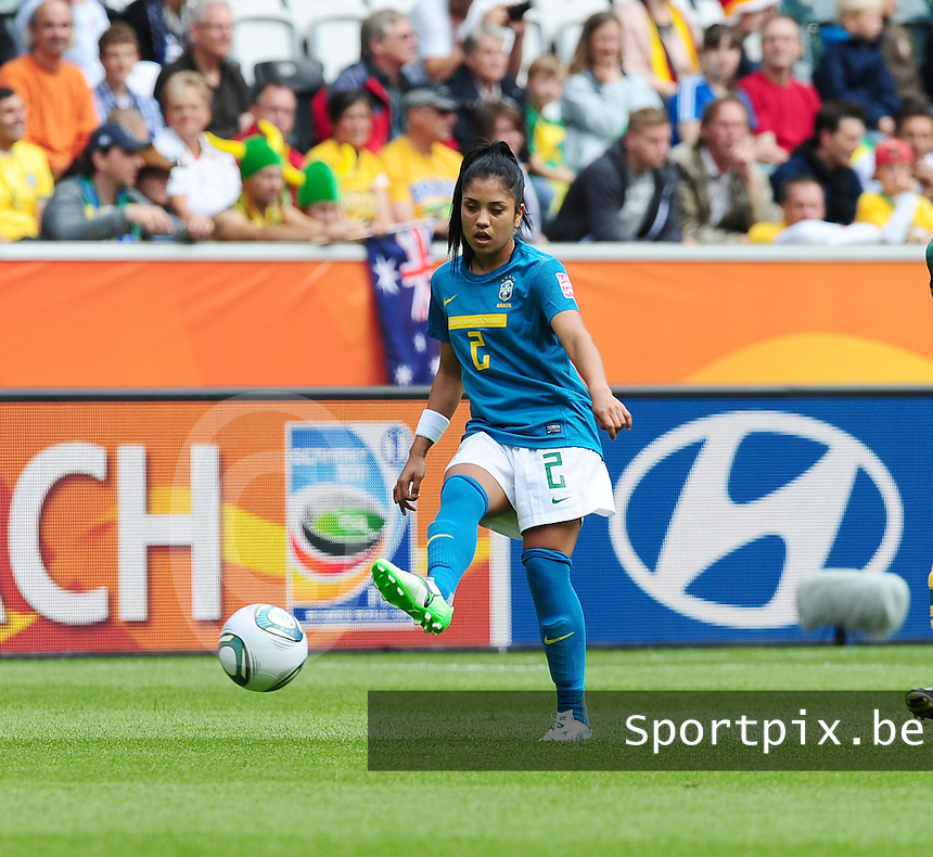 Fifa Women's World Cup Germany 2011 : Brazil - Australia  at Borussia - Park in Munchengladbach : Maurine.foto DAVID CATRY / Vrouwenteam.be