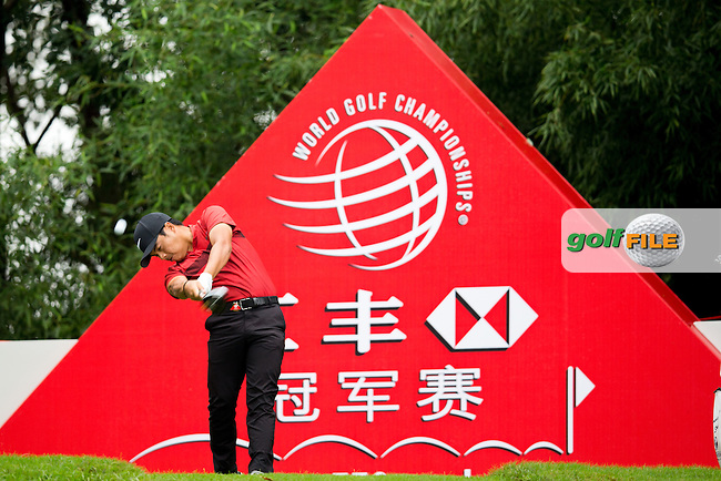 Miguel Tabuena (PHI) on the 2nd tee during the 1st round f the WGC-HSBC Champions, Sheshan International GC, Shanghai, China PR.  27/10/2016<br /> Picture: Golffile | Fran Caffrey<br /> <br /> <br /> All photo usage must carry mandatory copyright credit (&copy; Golffile | Fran Caffrey)