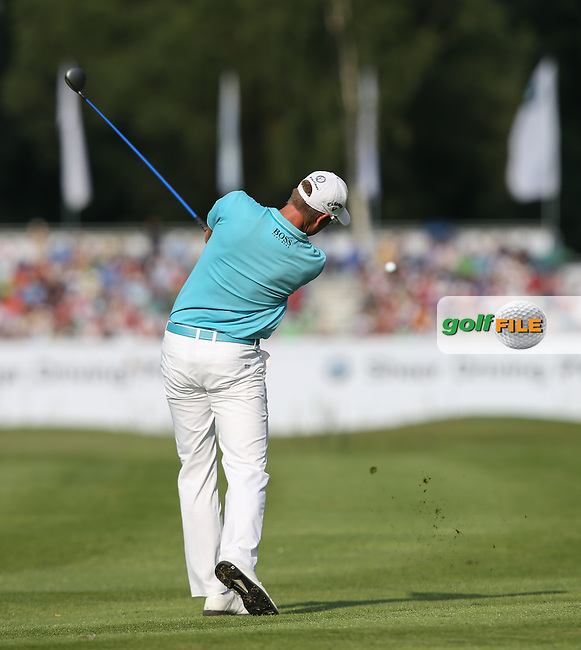 Henrik Stenson (SWE) plays approach shot to the last during Round Two of the 2015 BMW International Open at Golfclub Munchen Eichenried, Eichenried, Munich, Germany. 26/06/2015. Picture David Lloyd | www.golffile.ie