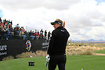 Luke Donald (ENG)  on the 1st tee before the start of Finals Day 5 of the Accenture Match Play Championship from The Ritz-Carlton Golf Club, Dove Mountain, Sunday 27th February 2011. (Photo Eoin Clarke/golffile.ie)