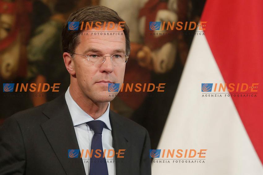Mark Rutte<br /> Roma 19-05-2016 Incontro tra i premier di Italia e Olanda. Meeting between Italian and Dutch Premiers.<br /> Photo Samantha Zucchi Insidefoto