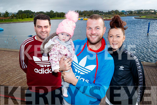 Finbar Cahillane (Killorglin) with Kayla O'Carroll, Anthony O'Carroll and Tanya Cahillane (Milltown), who took part in the Colour Dash 5km Colour Run, in aid of Crumlin Children's Hospital at Tralee Bay Wetlands, on Sunday morning last.