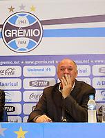 O técnico Luiz Felipe Scolari, o Felipão, é apresentado como novo técnico do Grêmio, na arena do clube, em Porto Alegre (RS), na manhã desta quarta-feira (30).  (PHOTO: PEDRO H. TESCH / BRAZIL PHOTO PRESS).