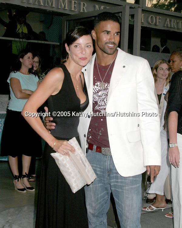 Lola Glaudini.Shemar Moore.CBS TCA Summer Press Tour Party.(TCA = Television Critics Association).Los Angeles, CA.July 19, 2005.©2005 Kathy Hutchins / Hutchins Photo