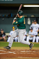 Siena Saints first baseman Joe Drpich (47) at bat during a game against the Stetson Hatters on February 23, 2016 at Melching Field at Conrad Park in DeLand, Florida.  Stetson defeated Siena 5-3.  (Mike Janes/Four Seam Images)