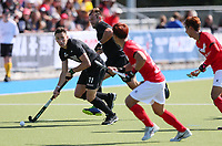 Jacob Smith in action during the Olympic Qualifier Hockey match between the Blacksticks Men and Korea at TET Multisport Centre in Stratford, New Zealand on Saturday, 2 November 2019. Photo: Simon Watts / www.bwmedia.co.nz