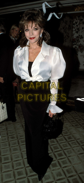 JOAN COLLINS..Fifi Awards ..Ref: 11586..white silk blouse..www.capitalpictures.com..sales@capitalpictures.com..©Capital Pictures..full length, full-length