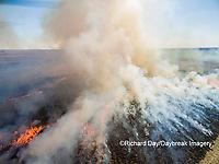 63863-02903 Prescribed Burn by IDNR Prairie Ridge State Natural Area Marion Co. IL