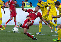 18 May 2013:Toronto FC midfielder Luis Silva #11in action during an MLS game between the Columbus Crew and Toronto FC at BMO Field in Toronto, Ontario Canada..The Columbus Crew won 1-0...