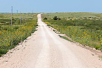 Route 66 winds through the low lying hills of Eastern New Mexico near Endee.