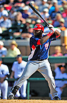 5 March 2009: Washington Nationals' outfielder Leonard Davis in action during a Spring Training game against the Detroit Tigers at Joker Marchant Stadium in Lakeland, Florida. The Tigers defeated the visiting Nationals 10-2 in the Grapefruit League matchup. Mandatory Photo Credit: Ed Wolfstein Photo