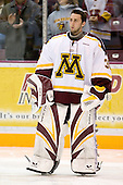Brent Solei (University of Minnesota - Coon Rapids, MN) lines up. The University of Minnesota Golden Gophers defeated the Michigan State University Spartans 5-4 on Friday, November 24, 2006 at Mariucci Arena in Minneapolis, Minnesota, as part of the College Hockey Showcase.