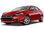 Low aggressive front three quarter photo of a 2013 Dodge Dart Rallye . sedan