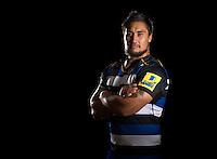 Leroy Houston poses for a portrait in the 2015/16 home kit during a Bath Rugby photocall on September 8, 2015 at Farleigh House in Bath, England. Photo by: Patrick Khachfe / Onside Images