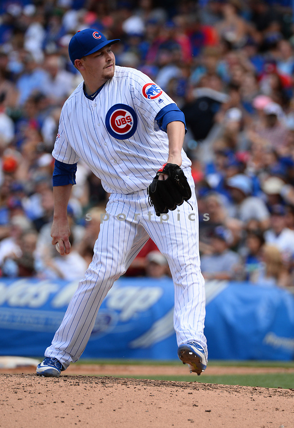 Chicago Cubs Trevor Cahill (53) during a game against the Arizona Diamondbacks on June 5, 2016 at Wrigley Field in Chicago, IL. The Diamondbacks beat the Cubs 3-2.