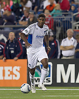 San Jose Earthquakes midfielder Khari Stephenson (7) at midfield. In a Major League Soccer (MLS) match, the San Jose Earthquakes defeated the New England Revolution, 2-1, at Gillette Stadium on October 8, 2011.