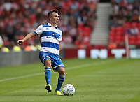 Queens Park Rangers' Josh Scowen <br /> <br /> Photographer Stephen White/CameraSport<br /> <br /> The EFL Sky Bet Championship - Stoke City v Queens Park Rangers - Saturday 3rd August 2019 - bet365 Stadium - Stoke-on-Trent<br /> <br /> World Copyright © 2019 CameraSport. All rights reserved. 43 Linden Ave. Countesthorpe. Leicester. England. LE8 5PG - Tel: +44 (0) 116 277 4147 - admin@camerasport.com - www.camerasport.com