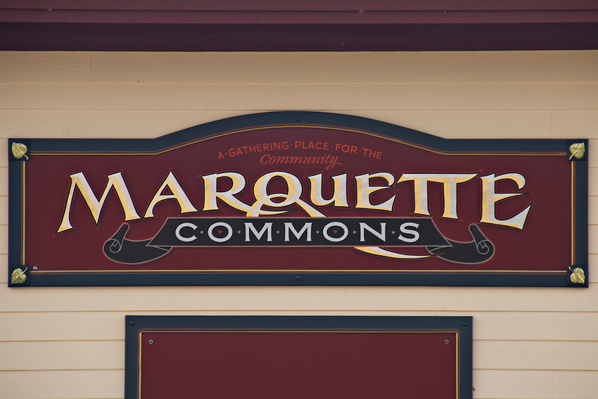 The Marquett Commons public space in Marquette Michigan.
