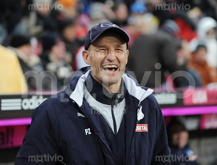 Fussball 1. Bundesliga   Saison   2009/2010  18. Spieltag  15.01.2010 FC Bayern Muenchen  - 1899 Hoffenheim Co Trainer Peter Zeidler (Hoffenheim)