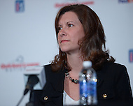 Bethesda, MD - May 19, 2014: Heather Lovier, vice president of Quicken Loans, attends a news conference to discuss the Quicken Loans National golf tournament. The proceeds of the tournament benefit the Tiger Woods Foundation.   (Photo by Don Baxter/Media Images International)