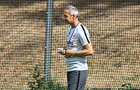 Trainer Adi H&uuml;tter (Eintracht Frankfurt) - 08.08.2018: Eintracht Frankfurt Training, Commerzbank Arena<br /> <br /> DISCLAIMER: <br /> DFL regulations prohibit any use of photographs as image sequences and/or quasi-video.