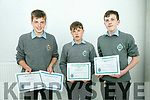 At the CBS The Green First Year annual awards on Thursday were front  l-r Tadgh Reen, Jerome Daly and Adam O'Keeffe