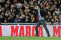 08.04.2012 SPAIN -  La Liga matchday 32th  match played between Real Madrid CF vs Valencia (0-0) and falls to 4 points behind Barcelona, at Santiago Bernabeu stadium. The picture show Unai Emery Etxegoien coach of Valencia C.F.