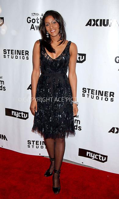 WWW.ACEPIXS.COM . . . . .....November 27, 2007. New York City,....Actor/host Sarah Jones attend the the 17th Annual IFP Gotham Awards at Steiner Studios in Brooklyn, NY...  ....Please byline: Kristin Callahan - ACEPIXS.COM..... *** ***..Ace Pictures, Inc:  ..Philip Vaughan (646) 769 0430..e-mail: info@acepixs.com..web: http://www.acepixs.com