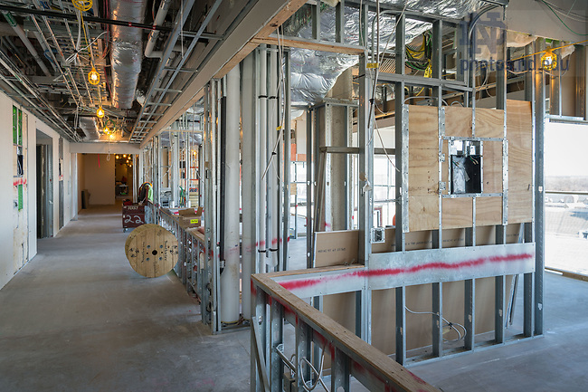 March 8, 2017; Duncan Student Center 9th floor under construction (Photo by Matt Cashore/University of Notre Dame)