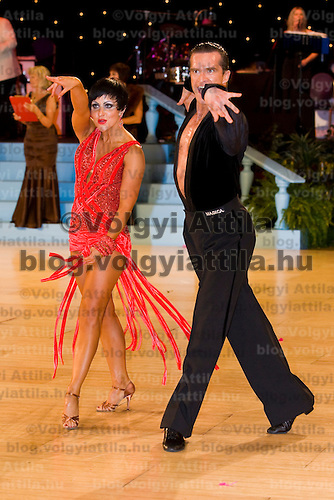 Andrej Skufca and Melinda Torokgyorgy perform during the professional latin competition of the United Kingdom Open Dance Championships held in Bournemouth International Centre, Bournemouth, United Kingdom. Thursday, 21. January 2010. ATTILA VOLGYI