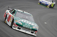 14 September 2008--Dale earnhardt Jr. leads Jimmie Johnson during the Sylvania 300 at New Hampshire Motor Speedway in Loudon, NH.  (Brian Cleary/BCPix.com)